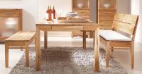 Esszimmer Sitzbänke aus Massivholz -...