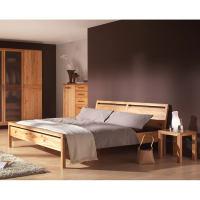 Modernes LINO Bett Classic Massivholz Wildeiche 140 x 200 cm