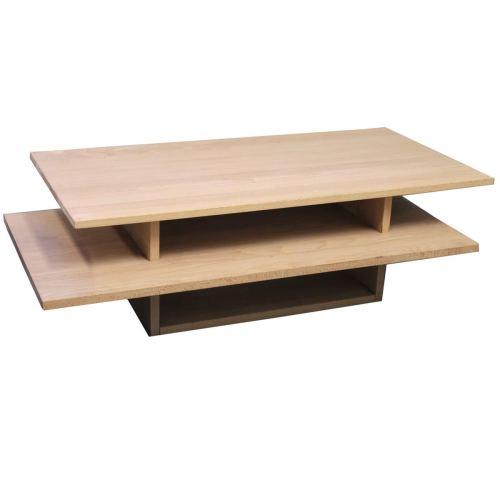 Massivholz Couchtisch Buche 130x70 cm