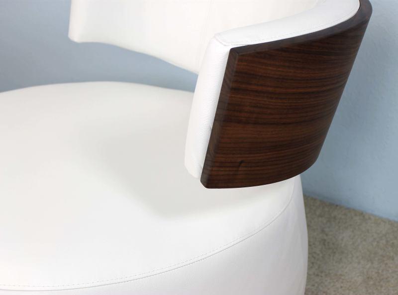 designer sessel boom mit massivholzr cken nussbaum leder. Black Bedroom Furniture Sets. Home Design Ideas