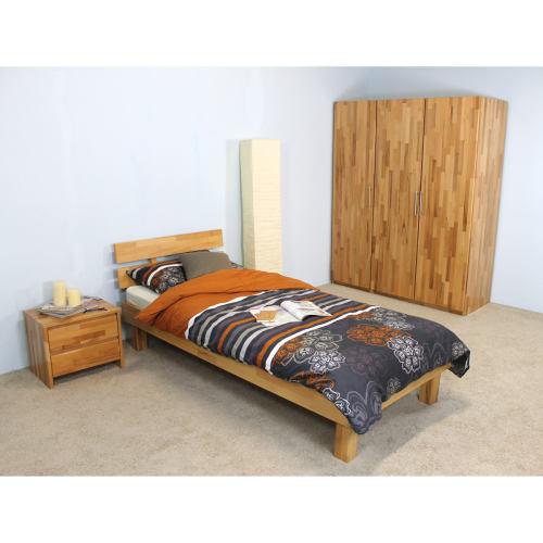 Massivholz Bett Kernbuche lackiert Elsa 160x200 (mit Kopfteil)