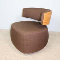 Dunkelbrauner Lounge Sessel BOOM in Kernbuche