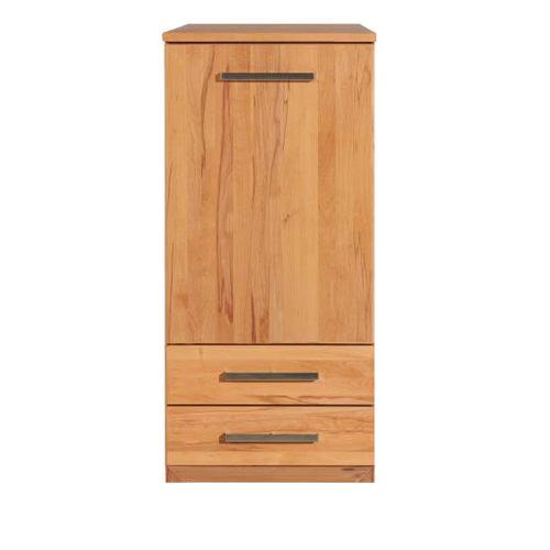 Schmales LINO Highboard Holz mit Flachsockel Nussbaum