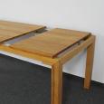 Esstisch LINO Massivholz mit Gestellauszug - 90cm Breite Buche 200 x 90 cm 50 x 90 cm