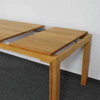 Esstisch LINO Massivholz mit Gestellauszug - 90cm Breite Kernbuche 200 x 90 cm 50 x 90 cm