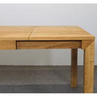Esstisch LINO Massivholz mit Gestellauszug - 90cm Breite Wildeiche 120 x 90 cm 50 x 90 cm