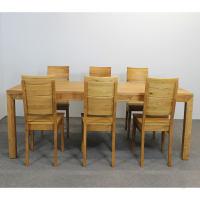 Esstisch LINO Massivholz mit Gestellauszug - 90cm Breite Wildeiche 140 x 90 cm 50 x 90 cm