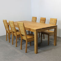 Esstisch LINO Massivholz mit Gestellauszug - 90cm Breite Wildeiche 140 x 90 cm 100 x 90 cm