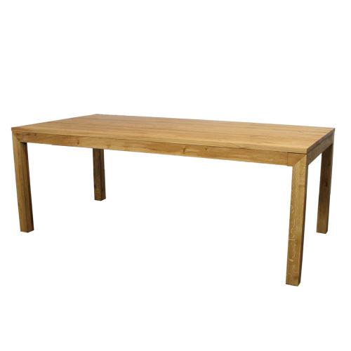 Esstisch LINO Massivholz mit Gestellauszug - 90cm Breite Wildeiche 200 x 90 cm 50 x 90 cm