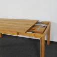Esstisch LINO Massivholz mit Gestellauszug - 90cm Breite Nussbaum 200 x 90 cm 100 x 90 cm