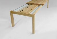 Esstisch LINO Massivholz mit Ausziehfunktion - 100cm Breite Buche 140 x 100 cm 50 x 100 cm