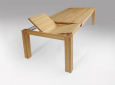 Esstisch LINO Massivholz mit Ausziehfunktion - 100cm Breite Buche 200 x 100 cm 50 x 100 cm