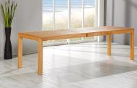 Esstisch LINO Massivholz mit Ausziehfunktion - 100cm Breite Kernbuche 180 x 100 cm 100 x 100 cm