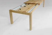Esstisch LINO Massivholz mit Ausziehfunktion - 100cm Breite Kernbuche 200 x 100 cm 100 x 100 cm