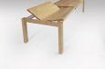 Esstisch LINO Massivholz mit Ausziehfunktion - 100cm Breite Wildeiche 140 x 100 cm 50 x 100 cm