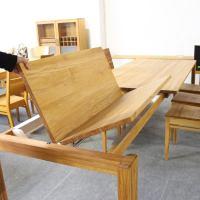 Esstisch LINO Massivholz mit Ausziehfunktion - 100cm Breite Wildeiche 160 x 100 cm 100 x 100 cm