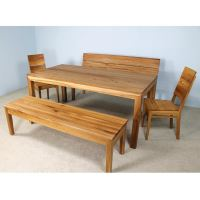 Esstisch LINO Massivholz mit Ausziehfunktion - 100cm Breite Wildeiche 180 x 100 cm 50 x 100 cm