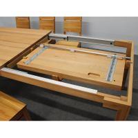 Esstisch LINO Massivholz mit Ausziehfunktion - 100cm Breite Nussbaum 140 x 100 cm 100 x 100 cm