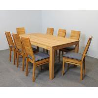 Esstisch LINO Massivholz mit Ausziehfunktion - 100cm Breite Nussbaum 160 x 100 cm 50 x 100 cm
