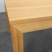 Esstisch LINO Massivholz mit Ausziehfunktion - 100cm Breite Nussbaum 160 x 100 cm 100 x 100 cm