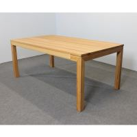 Esstisch LINO Massivholz mit Ausziehfunktion - 100cm Breite Nussbaum 200 x 100 cm 50 x 100 cm