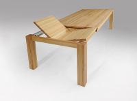 Esstisch LINO Massivholz mit Ausziehfunktion - 100cm Breite Nussbaum 200 x 100 cm 100 x 100 cm