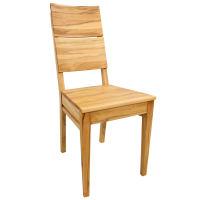 Esszimmerstuhl LINO - mit Holzsitz Buche hell geölt