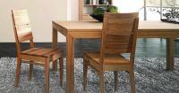 Esszimmerstuhl LINO - mit Holzsitz Nussbaum geölt