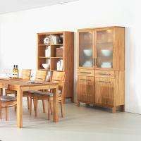 Holz Vitrine mit Glastür LINO