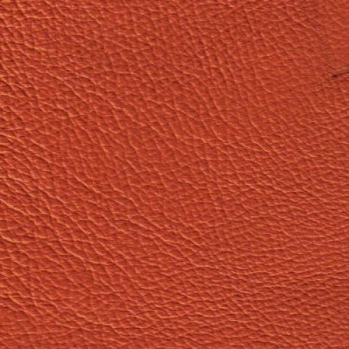 Handmuster für Echtleder Bezug Napoli Colore orange