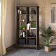 Lino Regal aus Massivholz - 100 x 31,6 x 192 cm Nussbaum