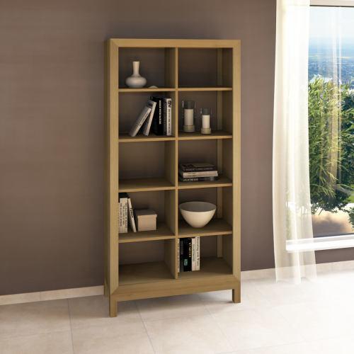 Lino Raumteiler-Regal aus Massivholz - 100 x 38 x 201 cm Buche