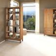 Lino Raumteiler-Regal aus Massivholz - 100 x 38 x 201 cm Kernbuche