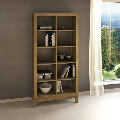 Lino Raumteiler-Regal aus Massivholz - 100 x 38 x 201 cm Eiche