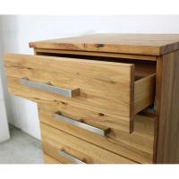 Massivholz Kommode LINO mit 4 Schubladen  Kernbuche