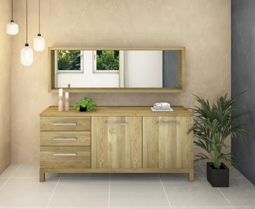 Modernes LINO Sideboard Massivholz Eiche