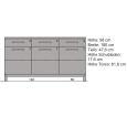 Exclusives LINO Sideboard mit Glastüren 180 cm Eiche
