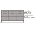 Exclusives LINO Sideboard mit Glastüren 180 cm Wildeiche