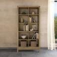 Lino Raumteiler-Regal aus Massivholz - 100 x 38 x 201 cm Wildeiche weiß geölt