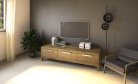 Exklusives TV-Lowboard LINO mit 3 Schubladen  Eiche