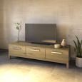 Exklusives TV-Lowboard LINO mit 3 Schubladen  Wildeiche weiß geölt