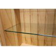 Massivholz Vitrine LINO Türen Klarglas mit Sockelgestell Kernbuche