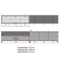 Moderne Wohnwand aus Massivholz Kernbuche