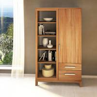Massivholz Bücherschrank mit Regal links
