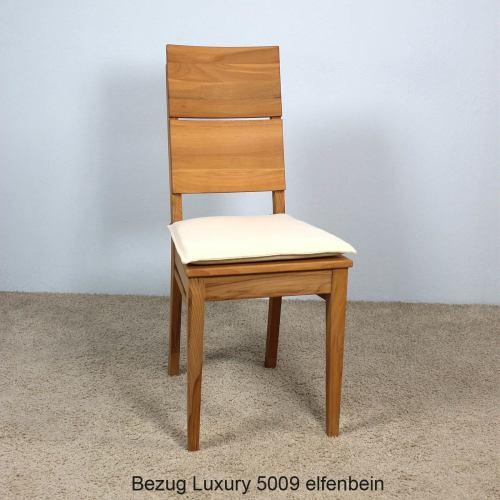 Elfenbein Sitzkissen für Stuhl LINO 2er Set
