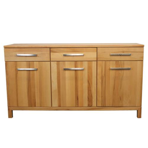 Modernes Holz Sideboard mit Schubladen Wildeiche weiß geölt