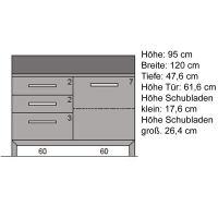 Hochwertige Esszimmer Kommode Massivholz