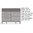 Hochwertige Esszimmer Kommode Massivholz Kernbuche