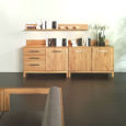 Moderne Massivholzkommode mit Türen LINO Buche