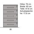 Schmale Schubladenkommode Massivholz